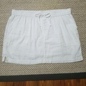 Old Navy Linen Blend Drawstring Skirt EUC!